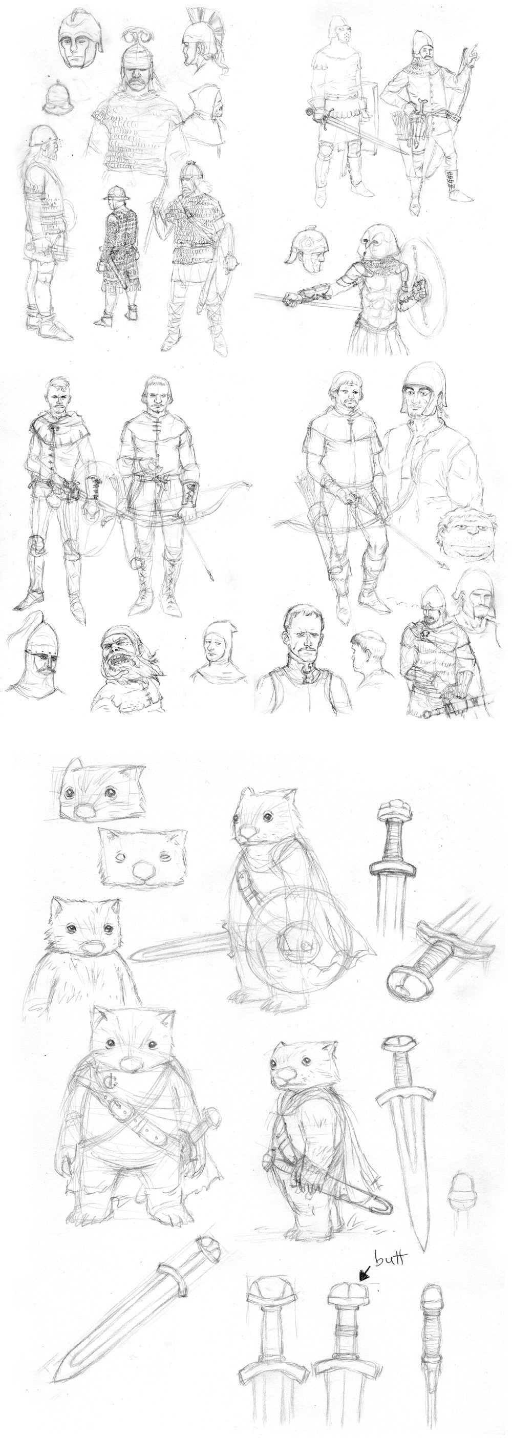 Mercenaries Sketches