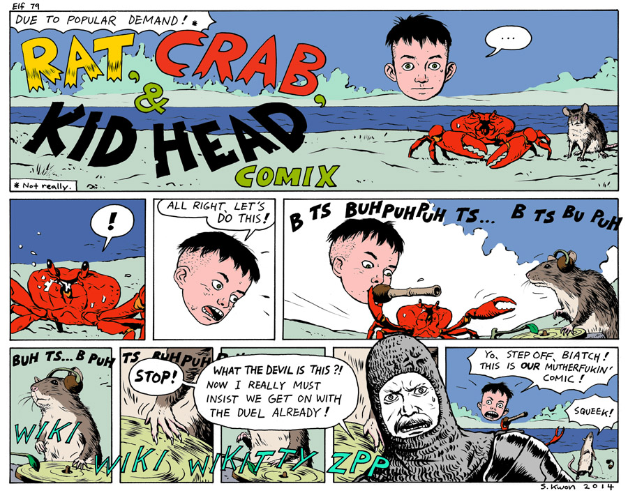 "#79 ""Rat, Crab, & Kid Head Comix"""