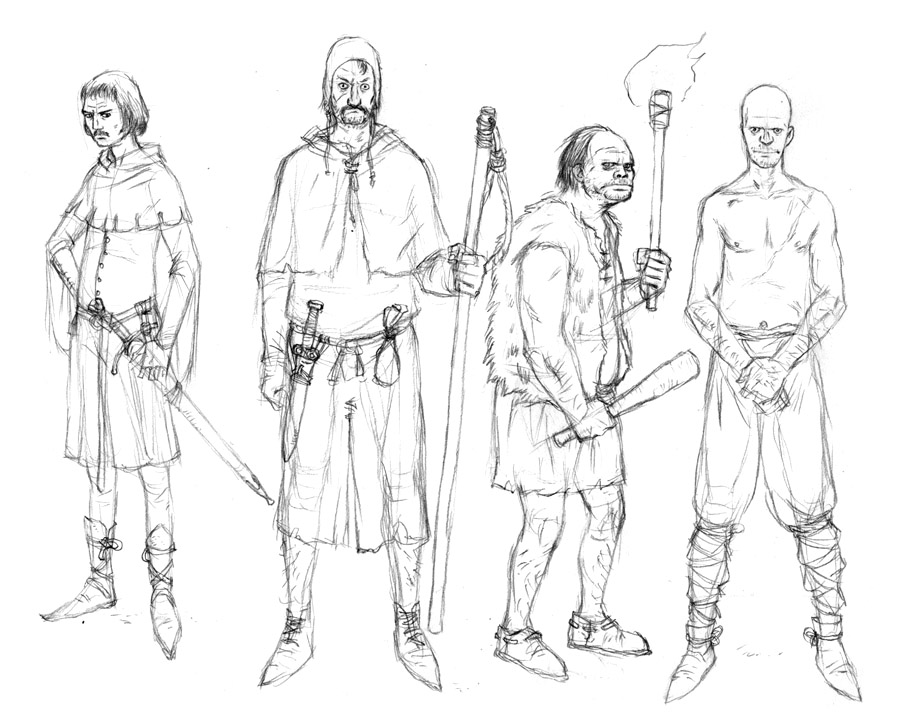 Town Men Sketches