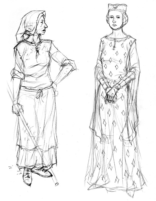 Town Women Sketch
