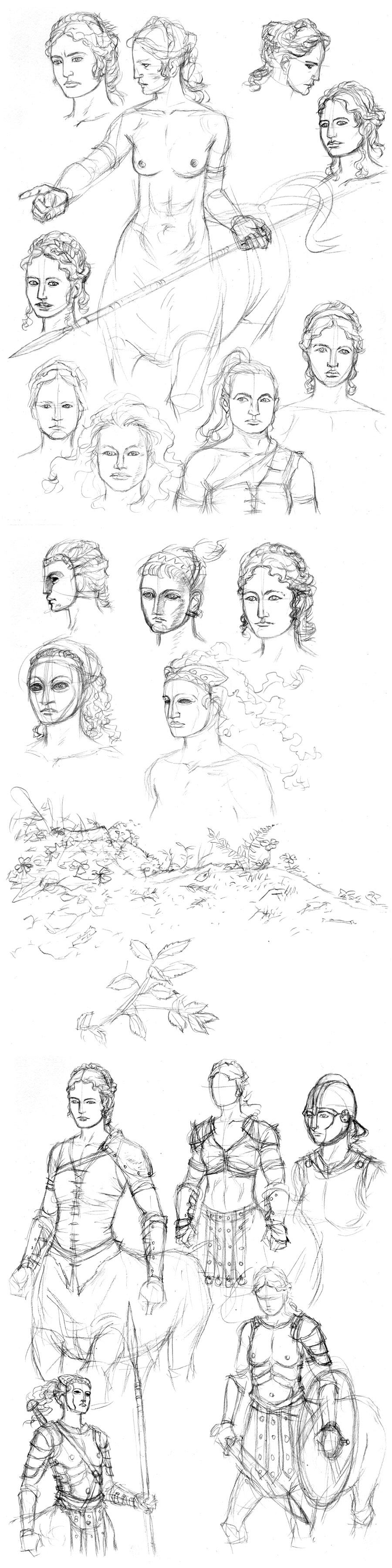 Centaur Sketches 01