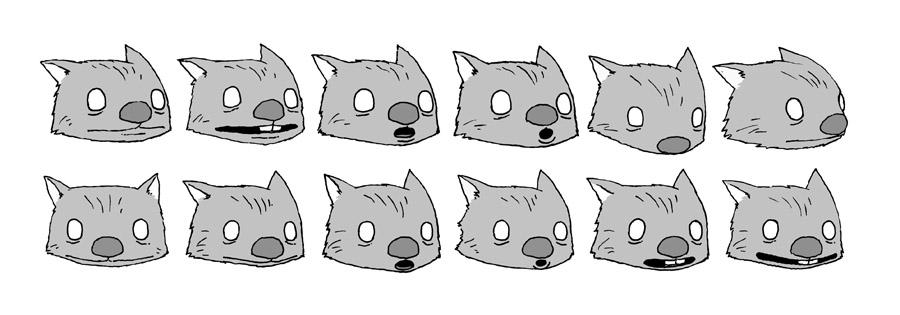 Wombat Heads
